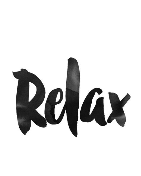 Typography Print Relax Print Printable Wall Art by wordsmithprints