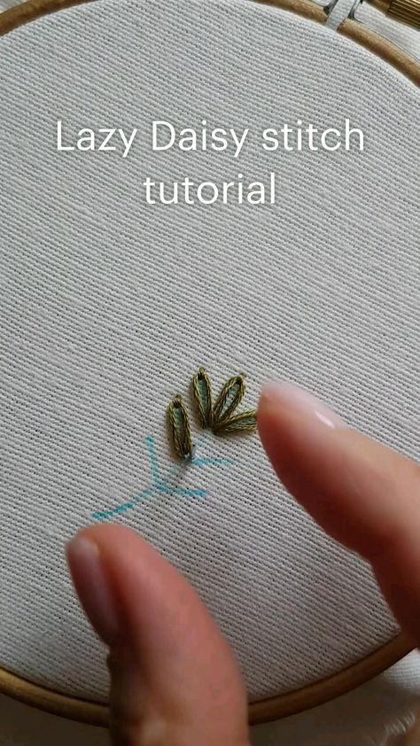 Lazy Daisy stitch tutorial Hand embroidery