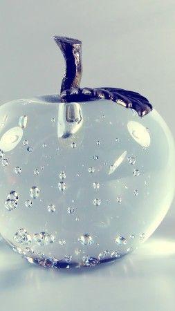 Apple 4k Hd Wallpaper Glass Transparent Vertical Fondos De