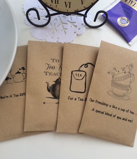 Tea-Riffic - Mini Envelope with Tea Bag for Teacher, Sister, Mum, Dad,  Friend etc - Great Little Gift for Tea Lovers by ThePersnicketyCo on Etsy