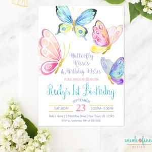 Butterfly Invitation Butterfly Birthday Party Birthday Etsy In 2021 Butterfly Invitations Butterfly Birthday Invitations Butterfly Birthday Party