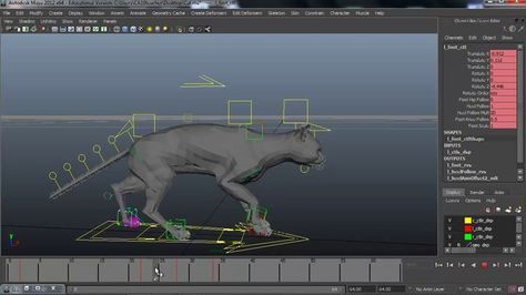 Awesome layered animation tutorial by Samy Fecih. Really well organized style of animating quadrupeds.