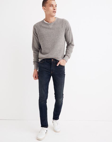 Madewell Skinny Jeans in Dark Worn jeans fashion jeans Straight jeans Casual jeans Levis jeans straight jeans formal