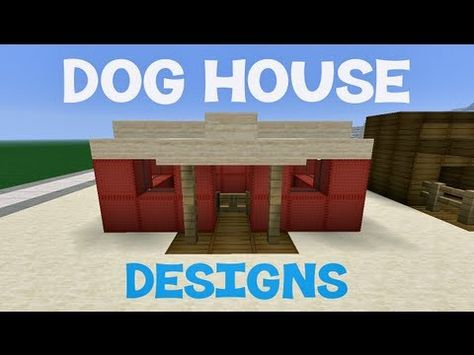 Minecraft Dog House Designs Youtube Minecraft Dog House