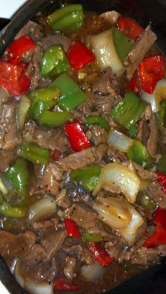 Pepper Steak #recipe I love Peper Steak www.batsbirdsyard.com = Bat Houses.