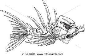 Resultado De Imagen Para Esqueleto De Un Pez Dibujo A Lapiz Arte De Hadas Dibujos Ilustraciones