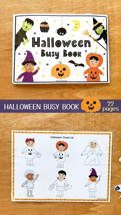 Halloween Busy Book, Toddler Busy Book Printable, Quiet Book Pdf, Halloween Learning Binder