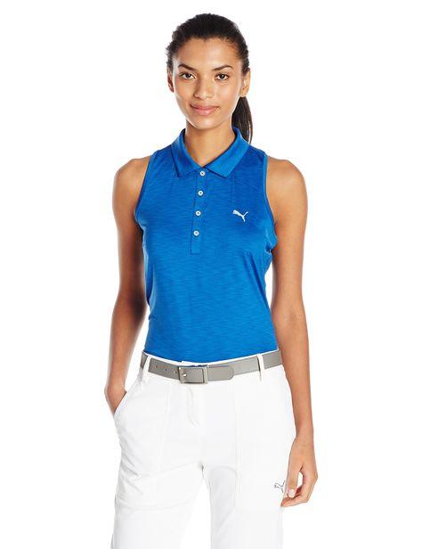 8d392b7a057a Women Golf Clothing - Puma Golf 2017 Womens Racerback Golf Polo True Blue  Large