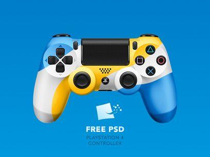 Dualshock 4 Free Psd Free Psd Psd Template Free Mockup Free Psd