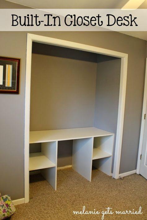 Melanie Gets Married: Craft Closet: Built-In Desk