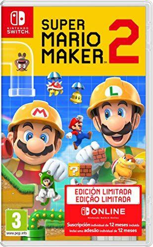 Super Mario Maker 2 Pack De Juego Suscripción De 12 Meses A Nintendo Switch Online Edició Juegos De Wii U Juegos De Wii Juegos De Consolas