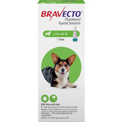 Bravecto Topical For Dogs Medium Dog 22 44 Lbs 2 Dose Medium Dogs Dogs Topical