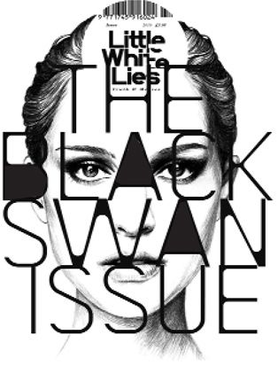 """David Carson. I really like the connections of letters in a very structured way. The black and white really makes it stand out, along with the little """"white"""" lies and THE """"BLACK"""" SWAN ISSUE. The tone drawing is really impeccable."""