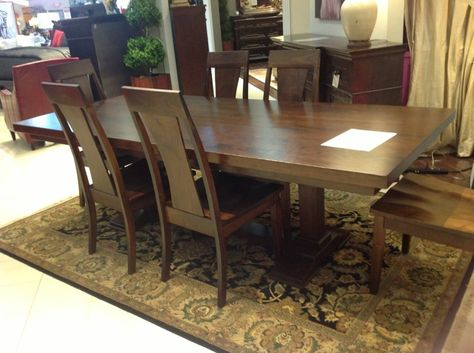 Clean Lines And Beautiful Wood Make This Dining Table And Chairs