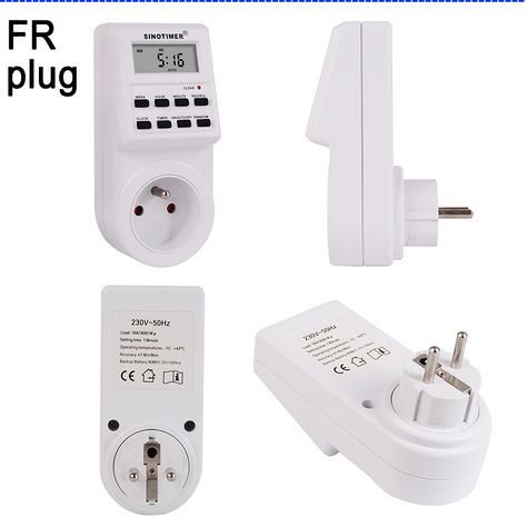 Universe Of Goods Buy Fr Plug Digital Weekly Programmable Electrical Wall Plug In Power Socket Timer Switch Outlet Time Clock 2 Wall Plug Time Clock Sockets