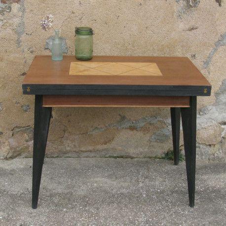 Table De Jeu Portefeuille Ancienne Vintage Table De Jeux Table Table Basse