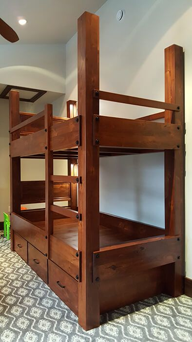 Vail Twin Xl Bunk Bed With Storage Adult Bunk Beds Bunk Bed