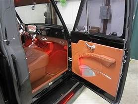 1948 52 Ford F 100 Door Panels Abs Embossed With Armrest Truck Interior Custom Car Interior Mustang Interior