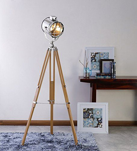 Nauticalmart Beautiful Design Nickel With Sheesham Wood T Https Www Dp B01bsosay4 Ref Cm Sw R Pi Dp X Brass Floor Lamp Tripod Floor Lamps Lamp