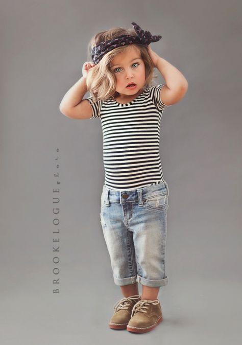 stripes and mini boyfriend jeans