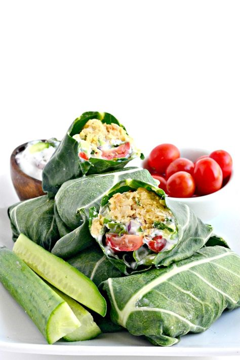 Falafel Collard Wraps