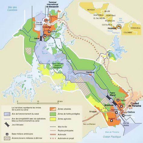 Mapa Del Canal De Panama Panama Canal Panama Canal Cruise