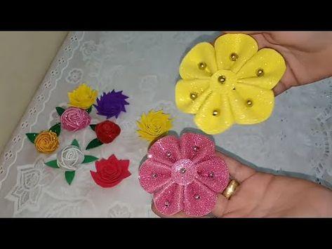 5 افكار من ورق الفوم اعملي اجمل اشكال من الورد بافكار بسيطه جداا Youtube Paper Flowers Diy Felt Crafts Paper Flowers