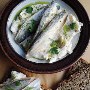 Pickled Herring With Sour Cream And Onions Recipe Yummly Recipe Herring Recipes Pike Fish Recipes Pickled Herring Recipe
