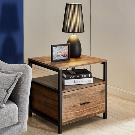 Ludie Block End Table With Storage In 2020 End Tables With Storage End Tables Coffee Table With Storage