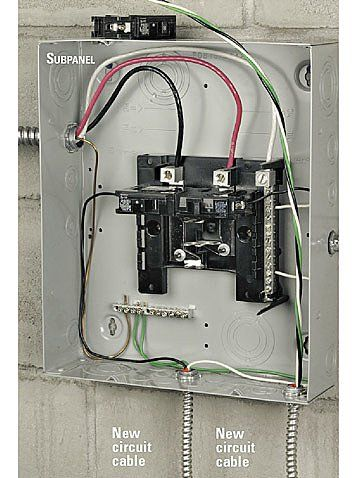 How To Install An Electrical Subpanel Home Electrical Wiring Diy Electrical House Wiring
