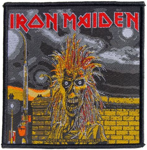 SEW ON PATCH OFFICIAL BAND MERCH IRON MAIDEN NEW A MATTER OF LIFE AND DEATH
