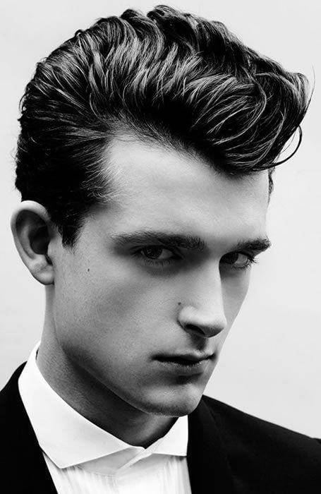 50s And 60s Male Pompadour : pompadour, Elvis-Inspired, Pompadour, #menshairstylesshort, Hairstyles, Beard,, Pompadour,, Beard, Hairstyle