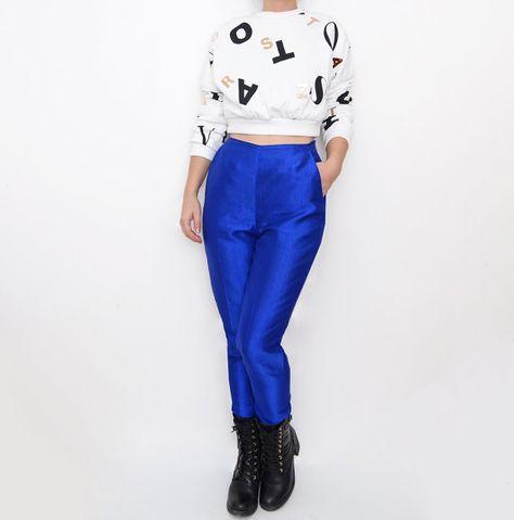 #dkny silk pants by #ZvezdanaVintage, $65.00
