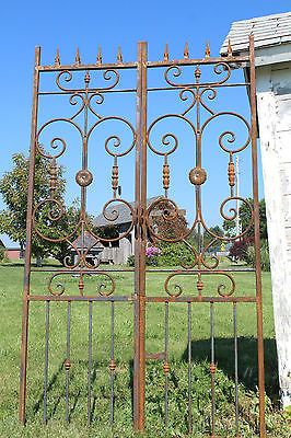 Wrought Iron Heavy French Center Divide Gate Trellis For Vines