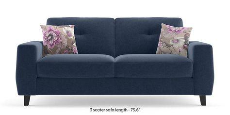 Edward Sofa (Blue) By Urban Ladder | Sofa Set Online, Fabric Sofa Design, Sofa Set