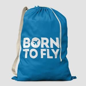 Born To Fly Laundry Bag Bags Drawstring Backpack Shopping