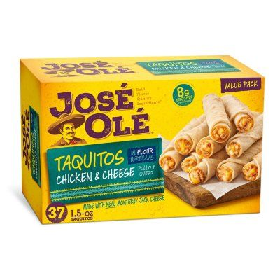 Jose Ole Chicken And Cheese Taquitos Frozen 37 Pk Taquitos Frozen Appetizers Dog Food Recipes