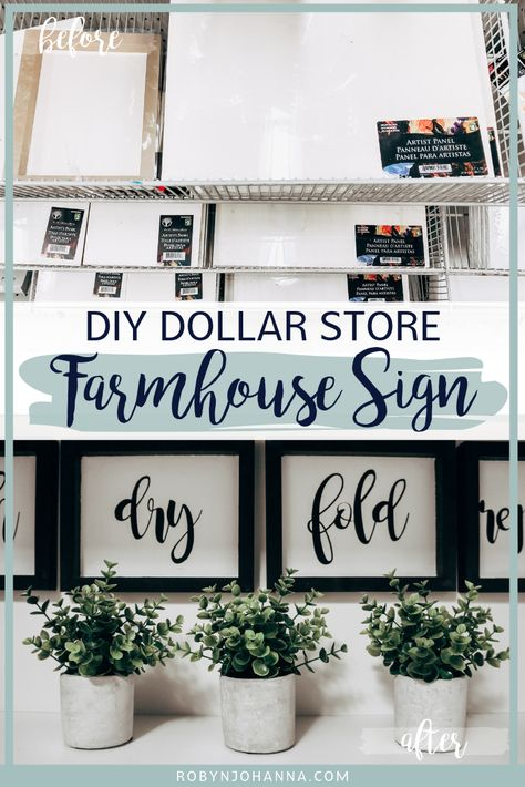DIY Dollar Store Farmhouse Sign That Will Blow Your Mind