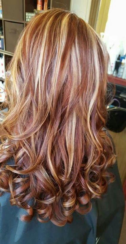 Hair Highlights And Lowlights Caramel Red Strawberry Blonde 40 Best Ideas Hair Highlights And Lowlights Red Hair With Blonde Highlights Hair Color Auburn