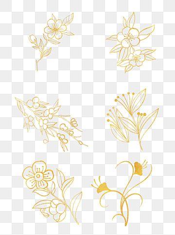 Creative Vector Golden Flower Illustration Golden Metal Flower Png Transparent Clipart Image And Psd File For Free Download Flower Illustration Flower Texture Golden Flower