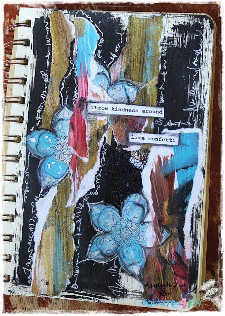 Intuitive Mixed Media Collage Art Journal @ DS4J
