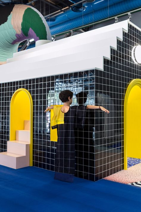 To celebrate the Centre Pompidou& anniversary, Paris-based studio GGSV have designed an interactive installation for children.