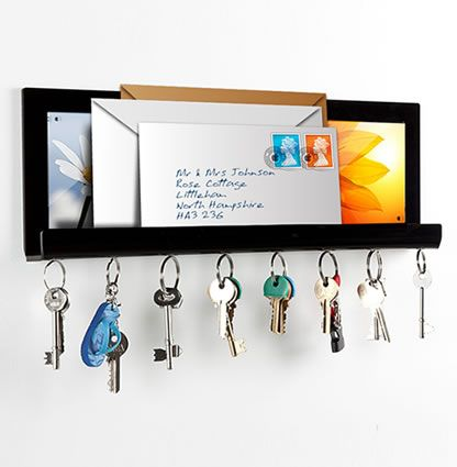Cool Wall Mounted Acrylic Key Hook And Letter Holder 15 64