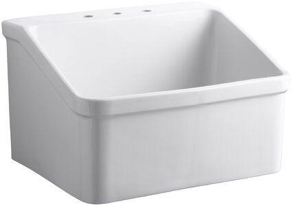 Kohler Hollister 28 X 22 Wall Mounted Laundry Sink In 2020