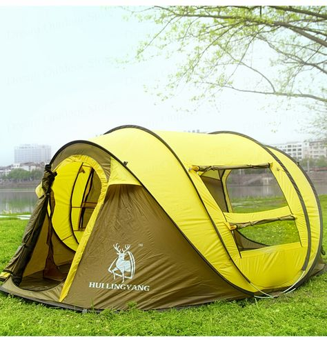 Throw tent outdoor automatic tents