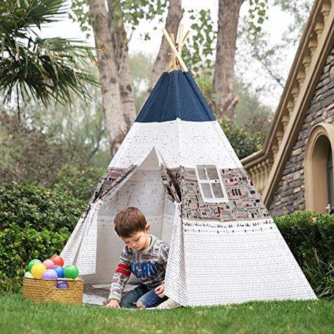 Cuscini Gioco Per Bambini.Songmics Tenda Da Gioco Indiana Per Bambini Tenda Teepee