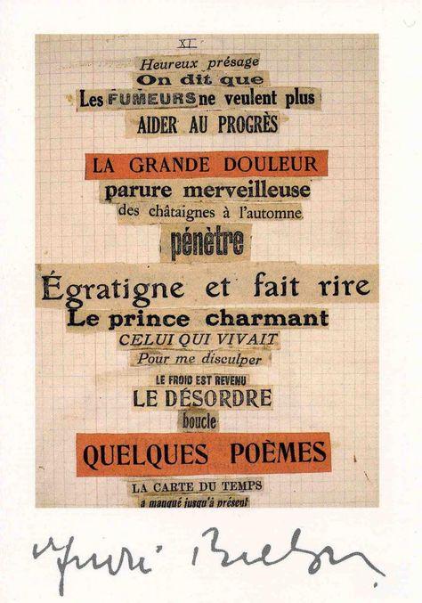 Cadavre Exquis Jeu Surréaliste André Breton Poème