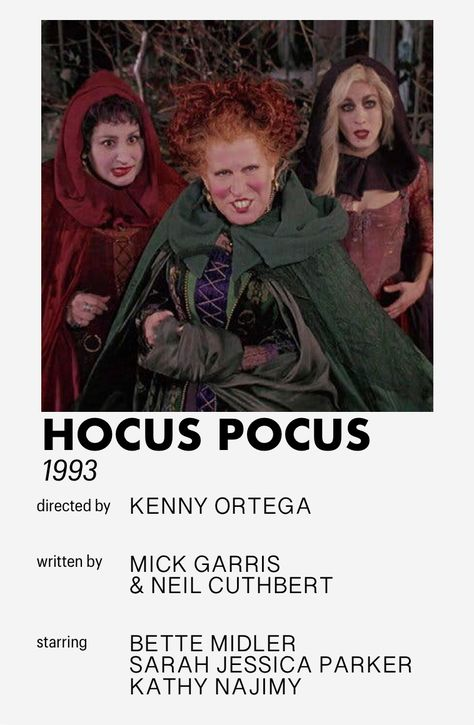 hocus pocus minimalistic movie poster