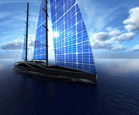 50 Meters Sailing Yacht With Solar Sails Wordlesstech Sailing Yacht Yacht Design Yacht
