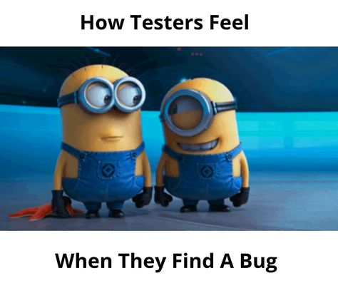 That happy moment for a tester when he finds a bug in the code & reports the issue back to the developers' team.  #testing #testers #qualityassurance